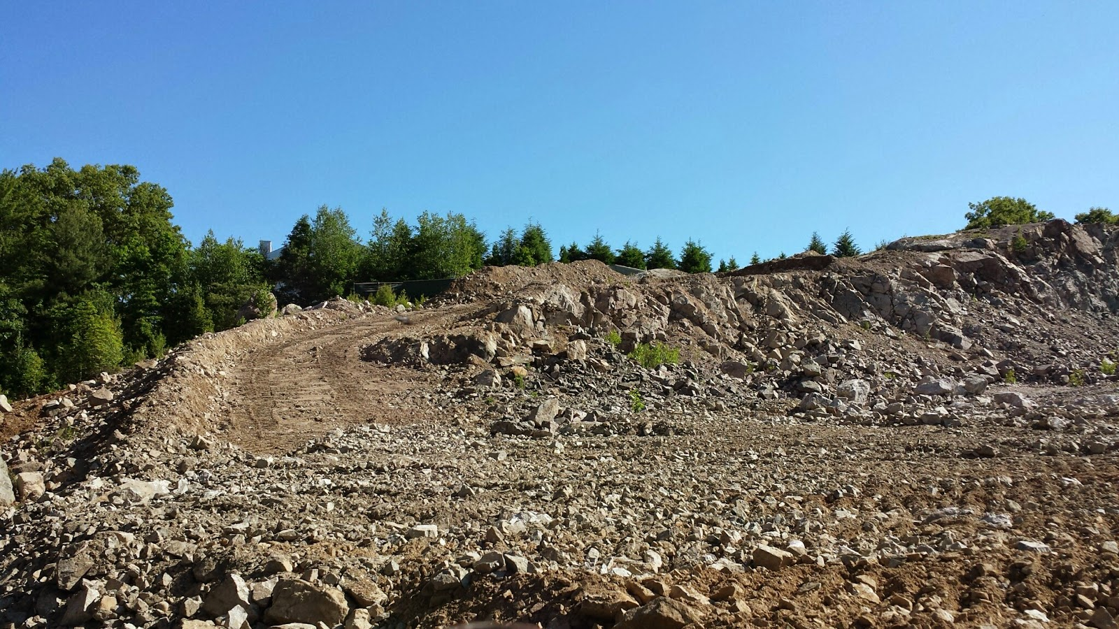 working road added to top of 'rockpile'