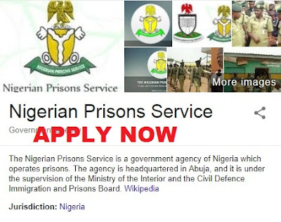 Nigeria Prison Service Recruitment 2018 | Application Form Guidelines