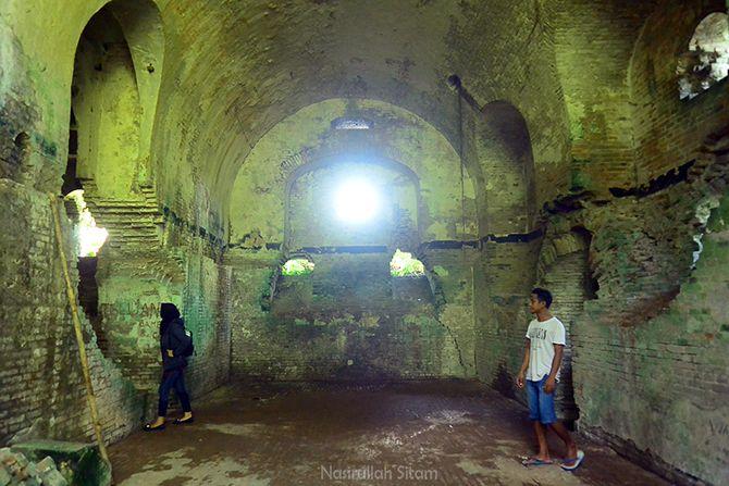 Ruangan di benteng Karang Bolong Nusakambangan