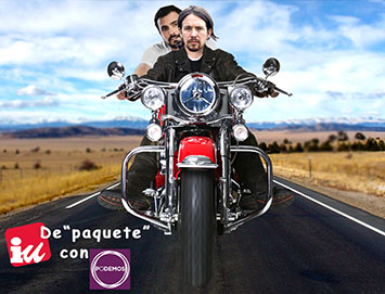 el villano arrinconado, humor, chistes, reir, satira, Alberto Garzon, Pablo Iglesias, Podemos, Izquierda Unida