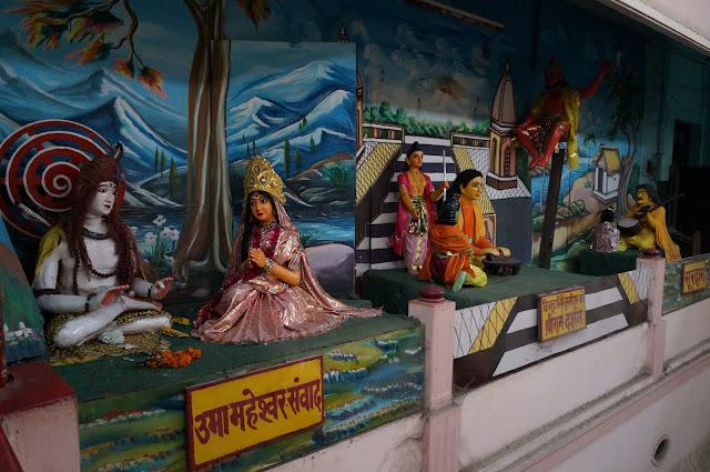Diorama tentang Rama di Tulsi Manas Mandir