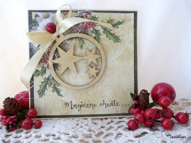 kartka na Boże Narodzenie z gwiazdkami