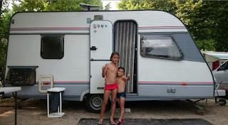 En el camping del Lago di Garda.