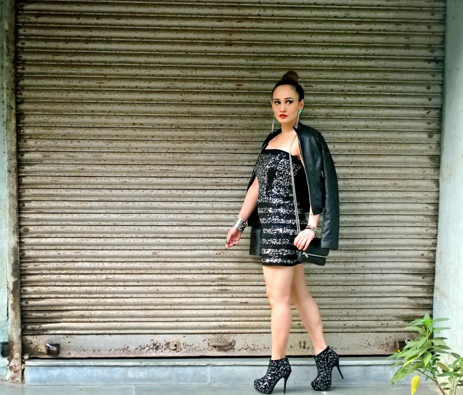 Sequin Dress by Vero Moda Marquee by Karan Johar