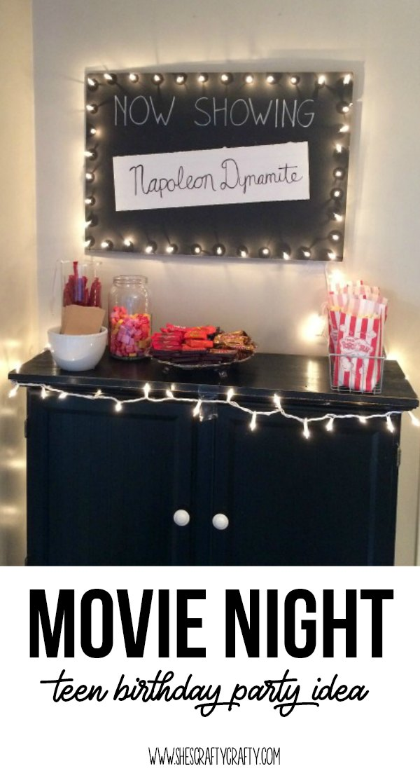 How to throw a Movie Night themed teen birthday party