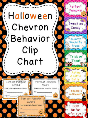 Halloween behavior chart - check these out! There's ones for every holiday!