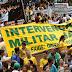 Mais de 40% dos brasileiros são a favor de intervenção militar provisória