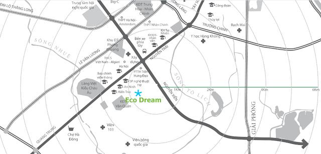 Vị trí đắc địa chung cư Eco Dream