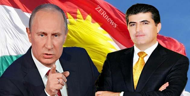 Vladimir Putin Neçirvan Barzani Kurdistan Rusya