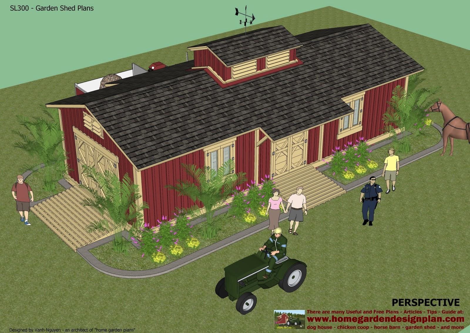 home garden plans SL300 Storage Sheds Plans Garden Shed Plans – Garden Shed Designs Free Plans