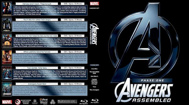 Avengers Assembled Phase One Collection Bluray Cover