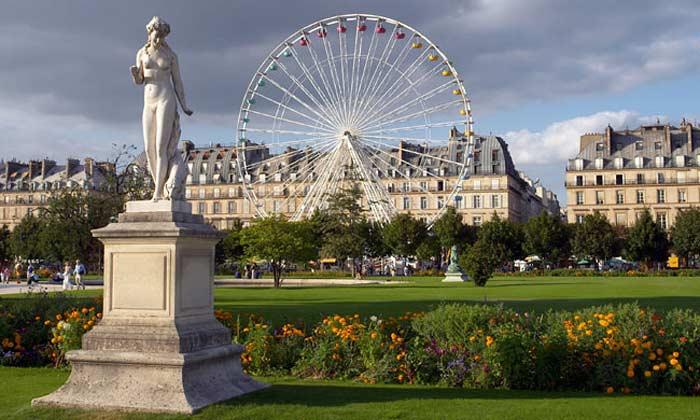 world visits jardin des tuileries wonderful garden located in paris france. Black Bedroom Furniture Sets. Home Design Ideas