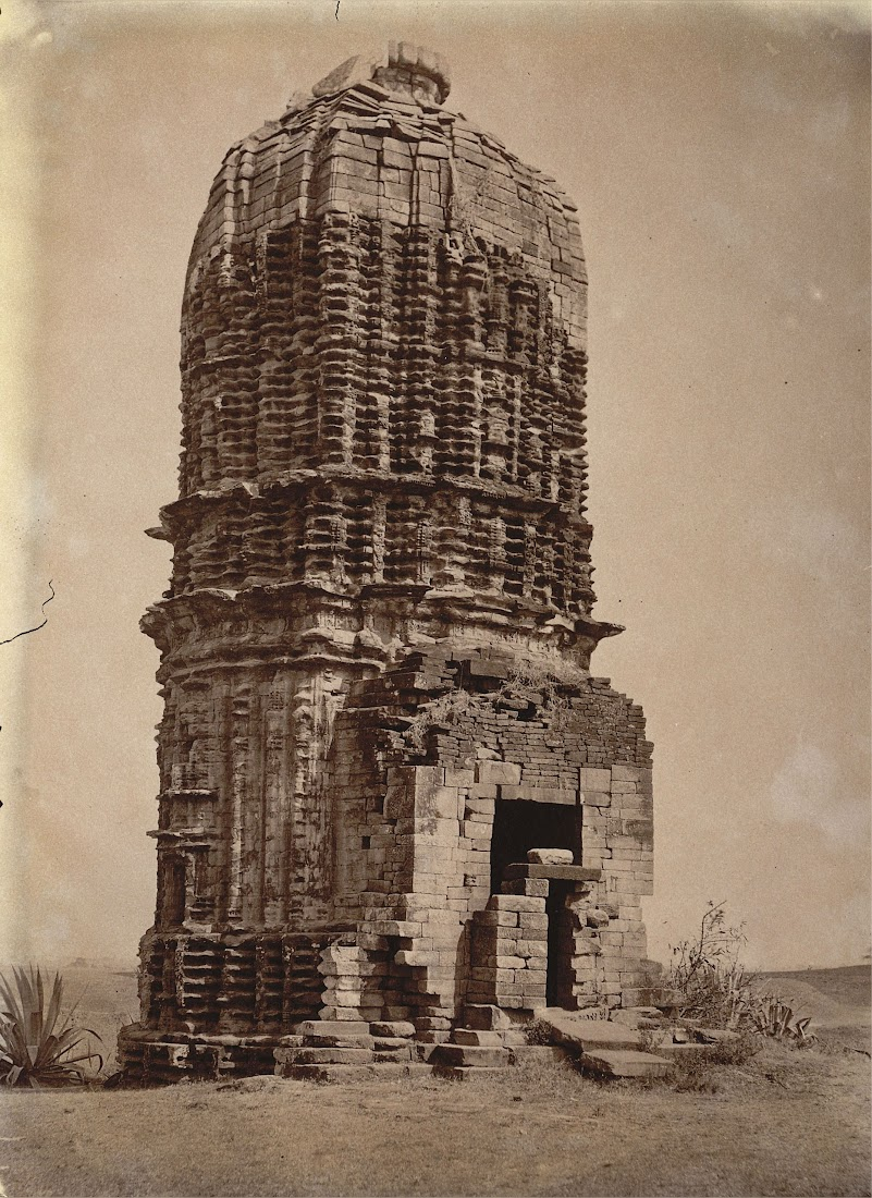 Stone Temple at East of the Village of Para, Manbhum District (Now in Purulia District), Bengal - 1872
