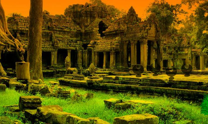Ruins Ancient Temple Esca…