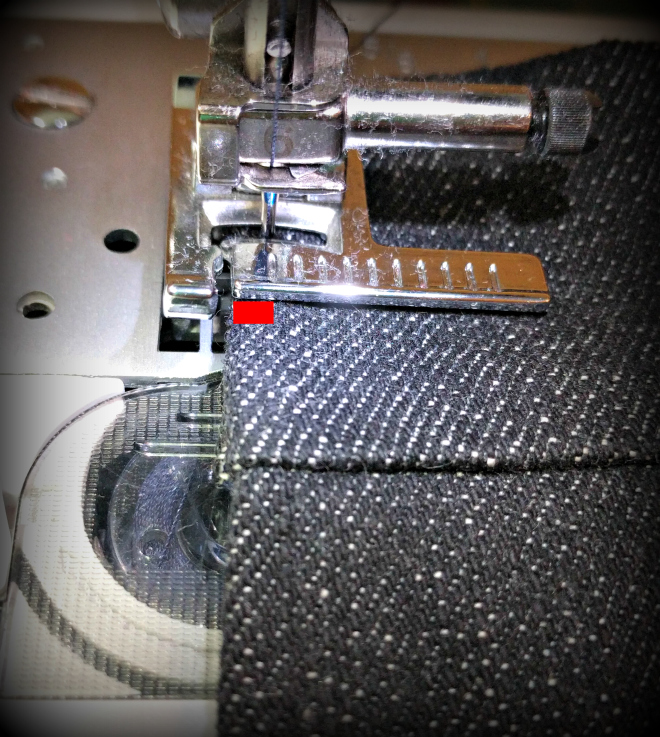 Use a seam guide for accurate stitching of the Sew Over It Erin skirt.