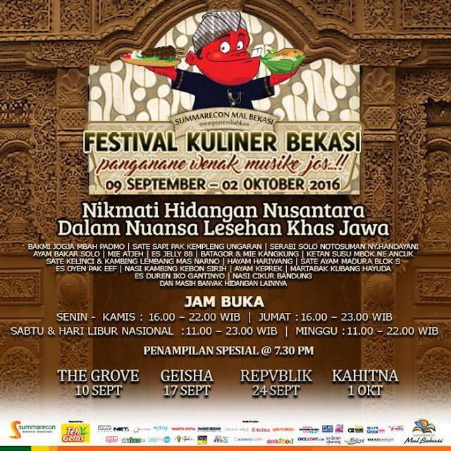 Festival Kuliner Bekasi 2016 Akan Dimulai, Ini Dia Info Mengenai Konsep Barunya