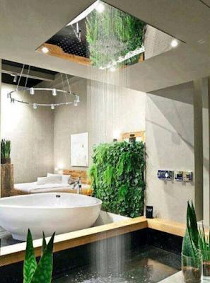desain kamar mandi alami dengan konsep modern