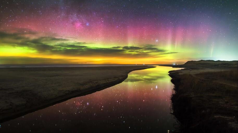 Northern Lights, Aurora Borealis, River, Scenery, 4K, #6.978