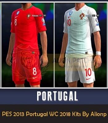 طقم منتخب البرتغال لكأس العالم كامل للبيس 2013 روسيا 2018