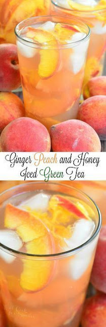 Ginger Peach and Honey Iced Green Tea