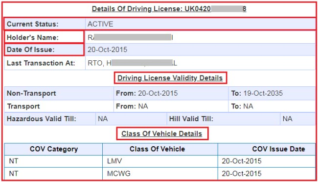 how to check drivers license status online