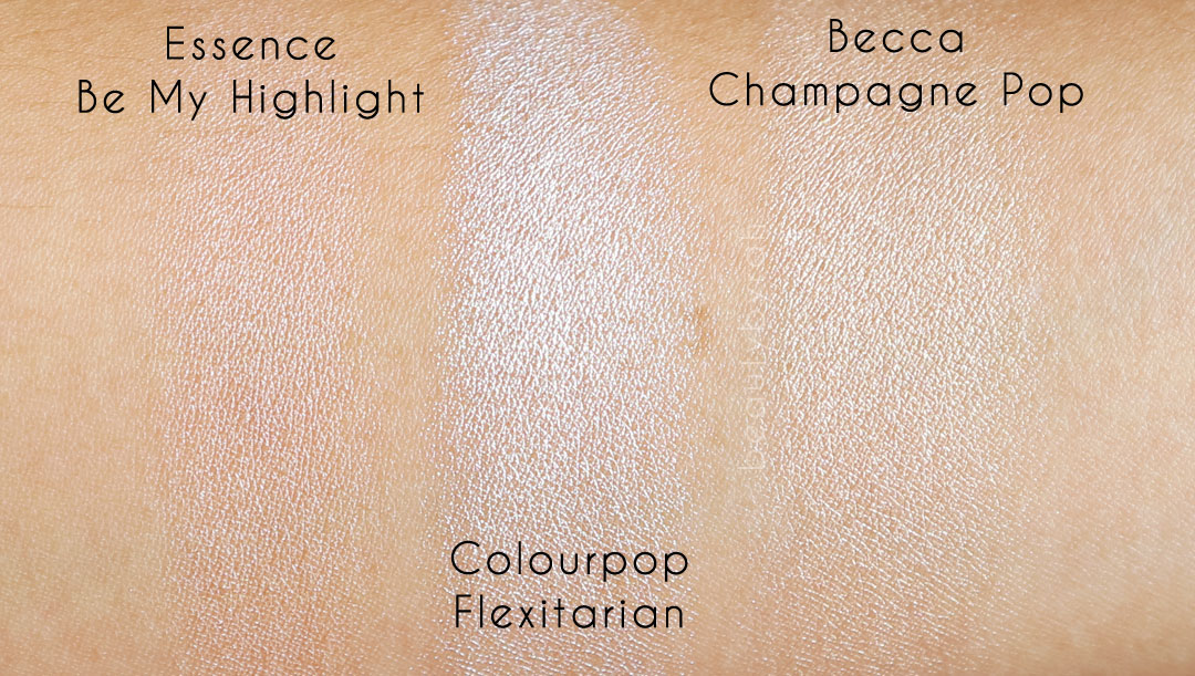 colourpop-flexitarian-becca-champagne-pop-essence-be-my-highlight-2016-highlighter-recommendations