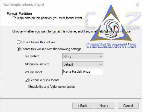 Atur File System Dan Label