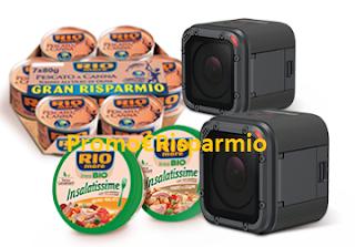 Logo Con Rio Mare e Coop vinci 12 videocamere Impermeabili Go Pro, un premio sicuro e non solo
