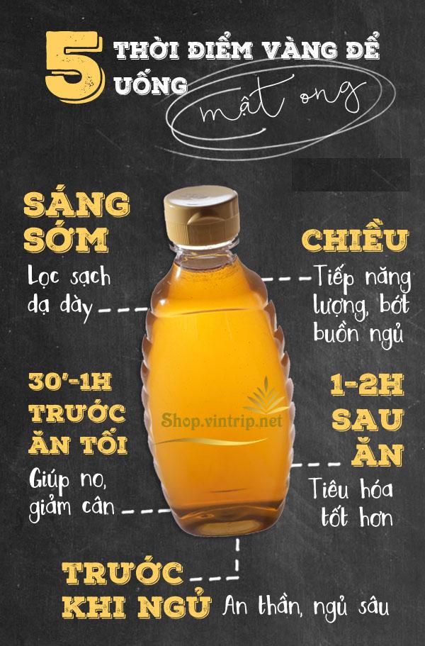 5 thời điểm vàng để uống mật ong giúp bạn khỏe đẹp trông thấy