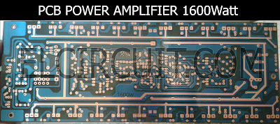 PCB layout 1600W power amplifier