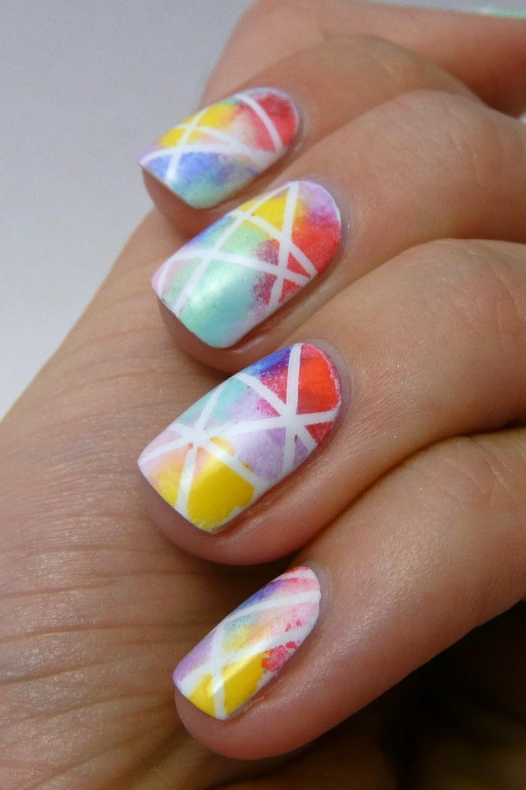 Casa De Polish Striping Tape Multicolored Nails