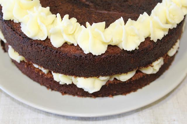 Tarta de chocolate rellena de philadelphia® (sin gluten ni lactosa)