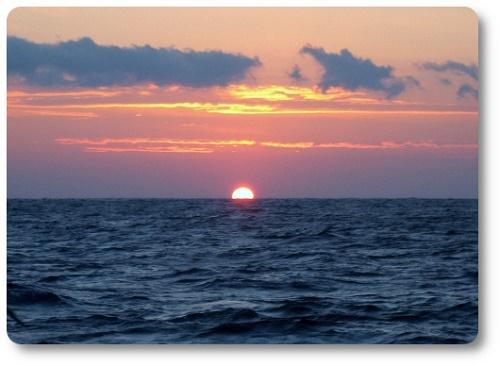 商品名 関西の船釣りで釣れる 竿とリール 熊野灘海上の朝日