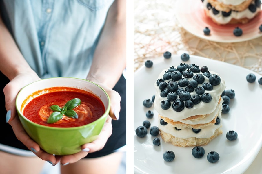 przepis na zupę i torcik