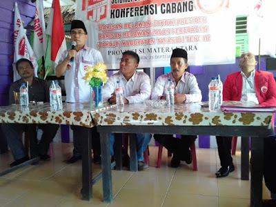 Ketua DPC Bara JP Kabupaten Tapanuli Tengah