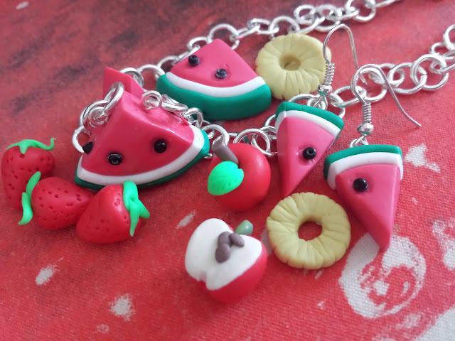 frutta bijoux in fimo