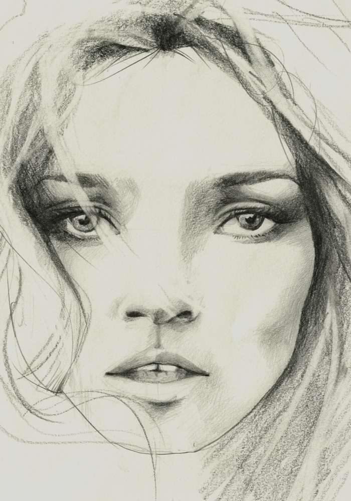 kate moss sketch by anna oh