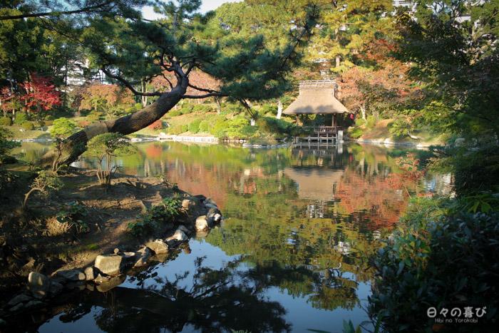 Etang de takuei, jardin shukkei-en, Hiroshima-shi
