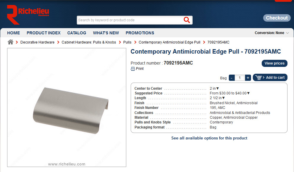 Contemporary Antimicrobial Edge Pulls - Review
