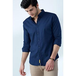 lacivert renk erkek gömlek