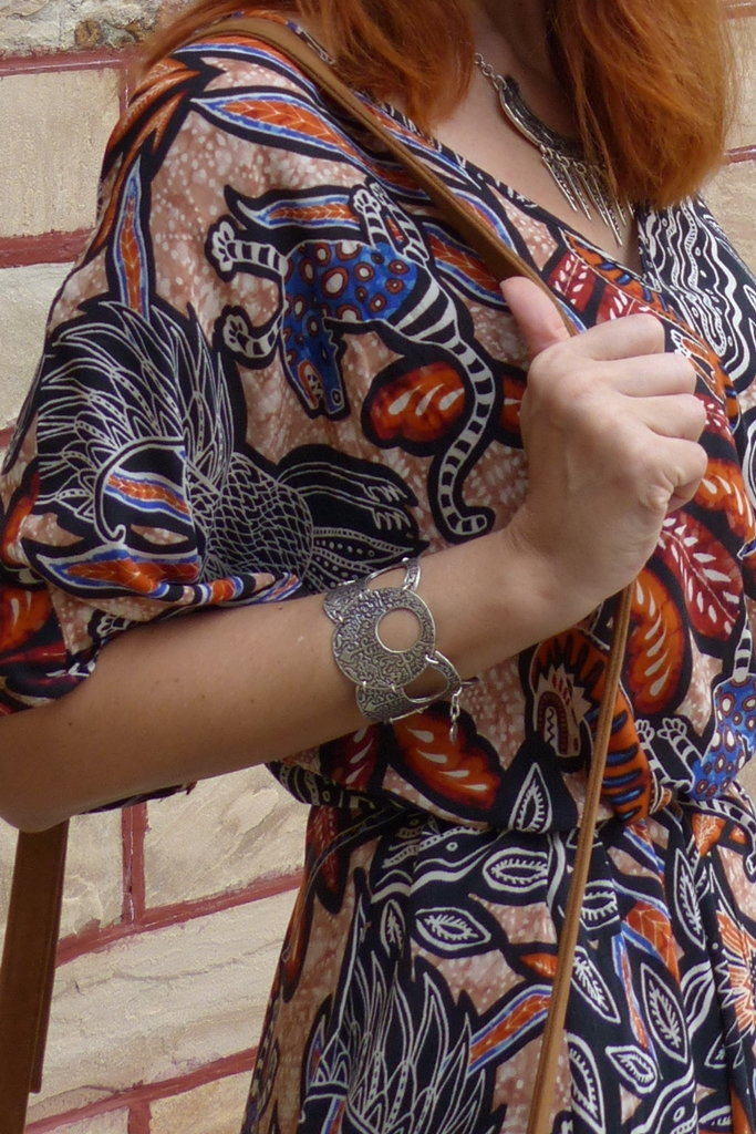 Mystical creatures dress and Skifska Etnika bracelet