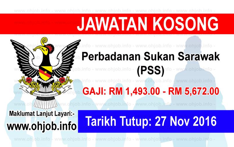 Jawatan Kerja Kosong Perbadanan Sukan Sarawak (PSS) logo www.ohjob.info november 2016