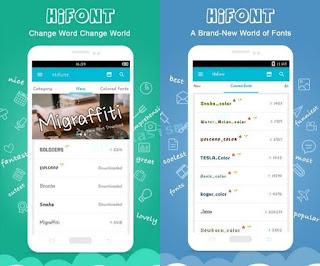 Cara ganti font android tanpa root menggunakan aplikasi hifont