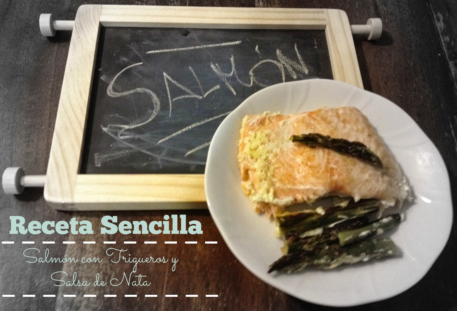Recetas fáciles: Salmón con trigueros y salsa de nata