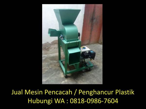 agen penjual mesin cacah plastik di bandung
