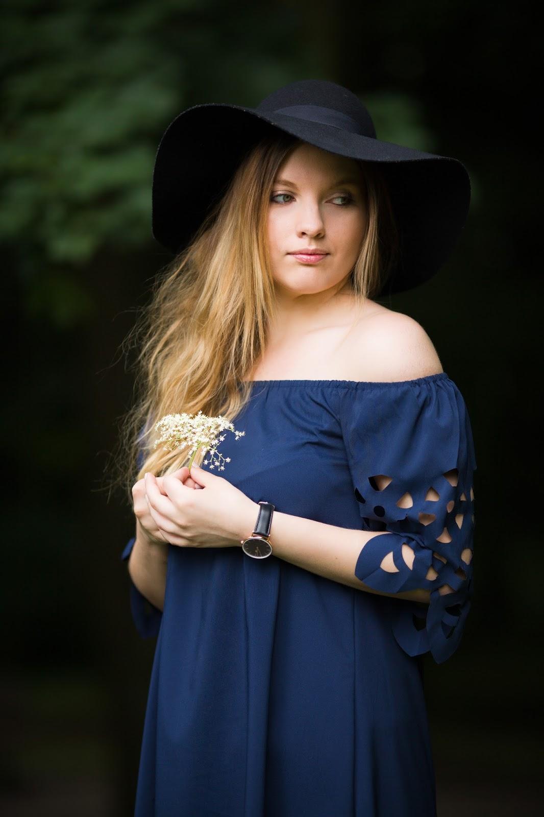 13 Off The Shoulder Flared Dress zaful paul rich watch hat sukienka zaful opinie recenzja buty łuków ażurowa hiszpanka granatowa baletki zegarek ootd lookbook fashionblogger blog modowy lifestyle