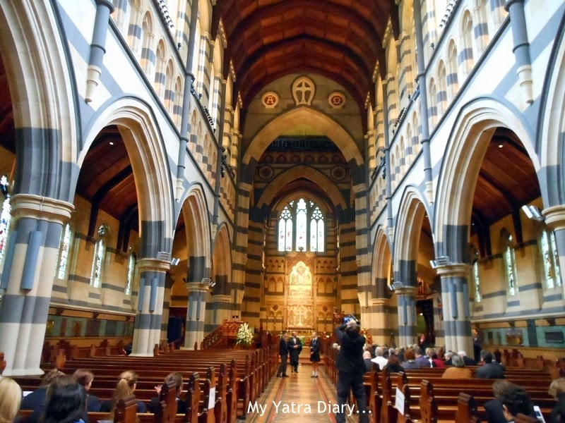 The main hall at the St. Paul's church cathedral in Melbourne, Australia