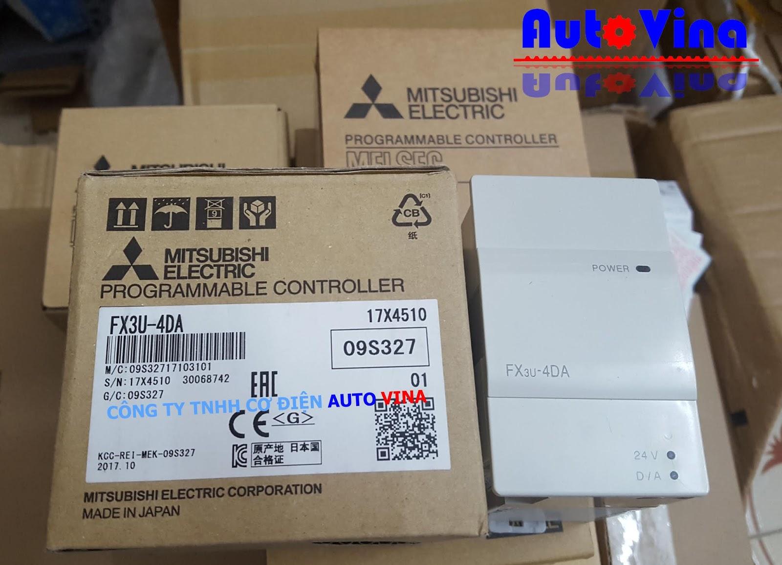Module chuyển đối tín hiệu analog ngõ vào cho PLC Mitsubishi FX3U-4DA