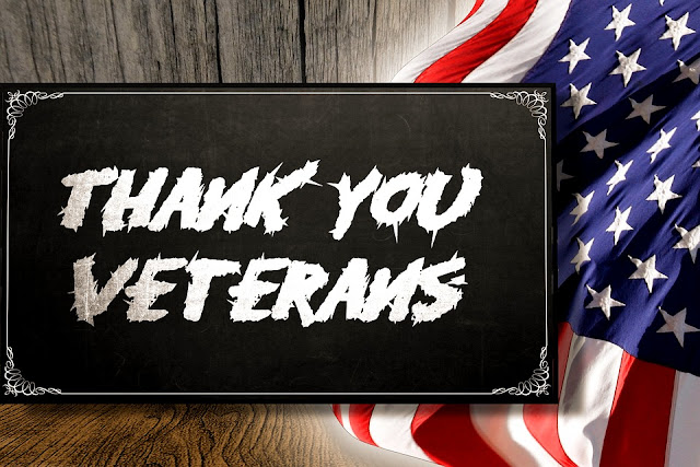 Image: Thank You Veterans sign, by Kai Kalhh on Pixabay