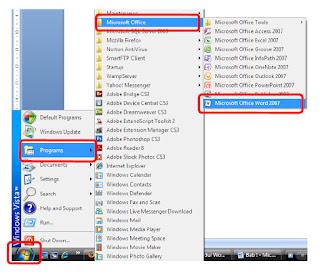 Langkah Menjalankan Microsoft Word
